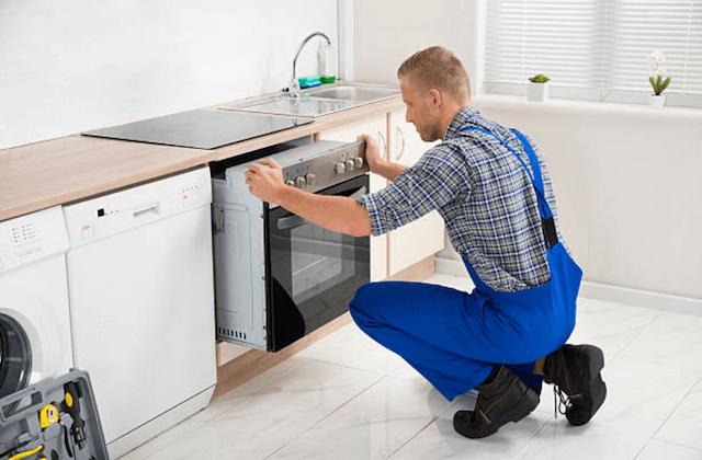 appliance install in kitchen